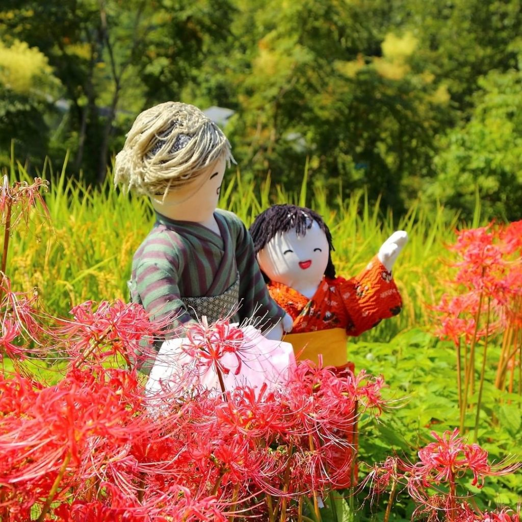 Heading to Nara this September? Take a side trip to check out the cute scarecrow...