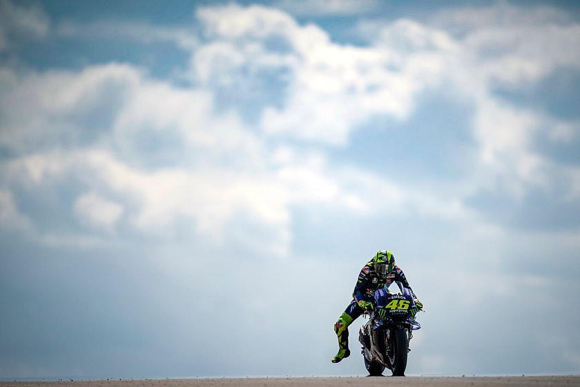 @valeyellow46 rode his Yamaha to 6th on the grid for tomorrow's Aragon GP. . . #...