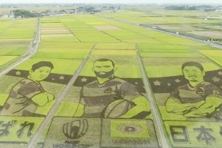 Rugby World Cup 2019 Japanese Rice Paddy Art in Gyoda