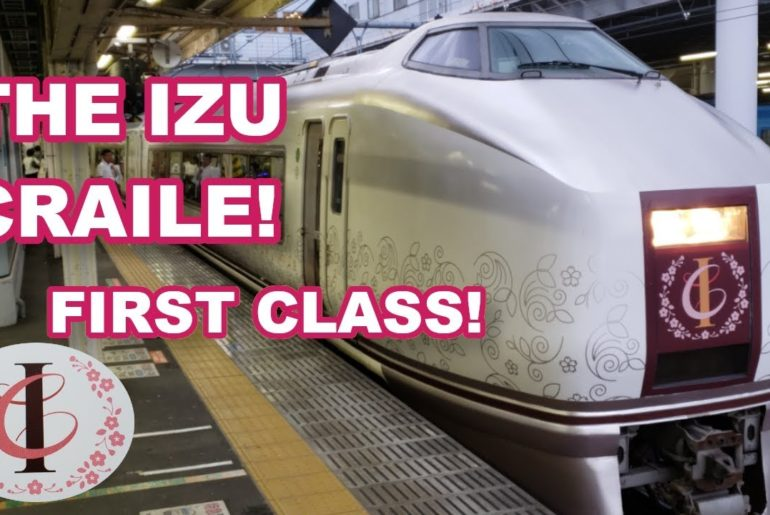 Japan Travel: All aboard the FANTASTIC Izu Craile in FIRST class from Shimoda to Odawara!