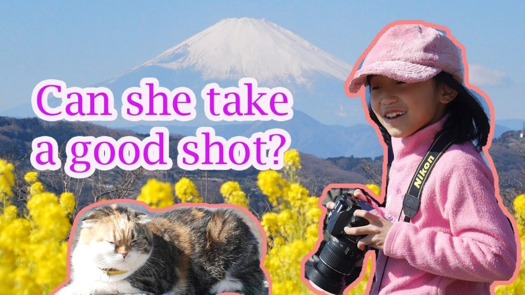 Mt. Fuji, Rapeseed blossoms and a Friendly Cat