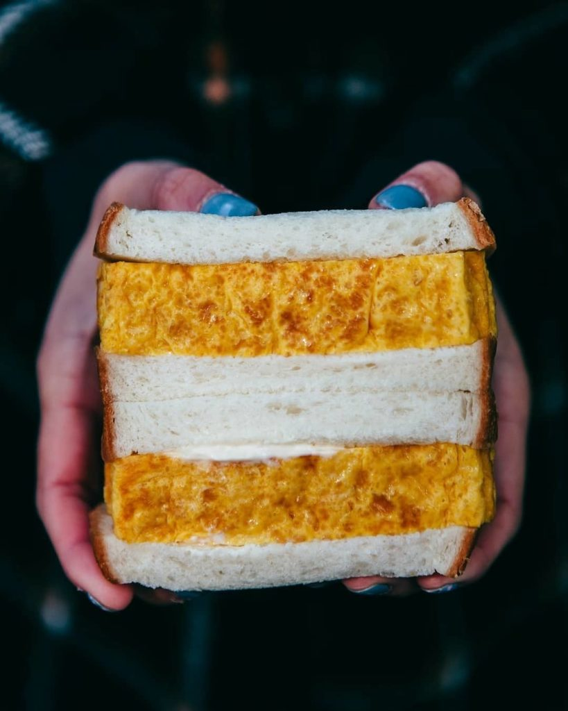 Not just ANY egg sandwich, the 'Tamago Sando' found at Tsukiji Shoro Honten is a...