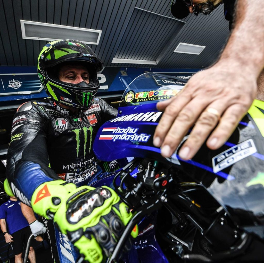 "@valeyellow46 : ""The crash is a shame. Maybe we could have started from a bit be..."