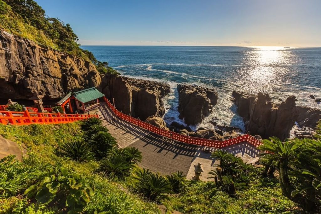 Udo-Jingu Shrine sits along the rugged Nichinan coastline of Miyazaki Prefecture...