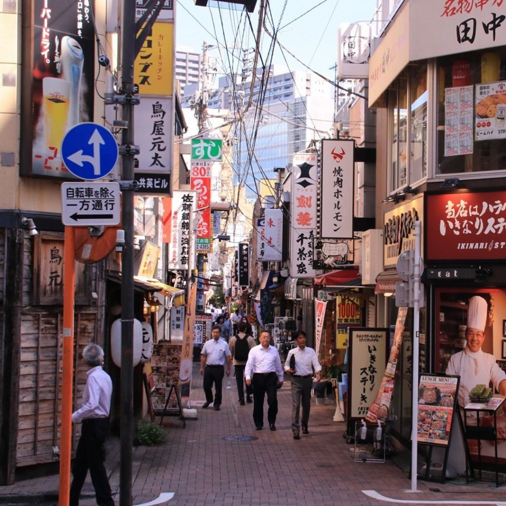 Just a short walk north from Tamachi Station, a sense of nostalgia can be found ...