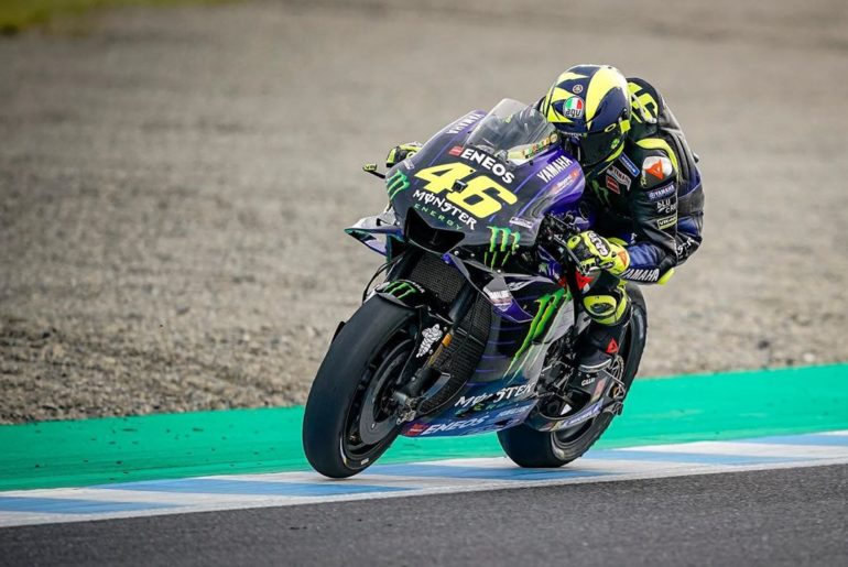 @valeyellow46 got caught up in the busy rider pack at the start of the race. He ...