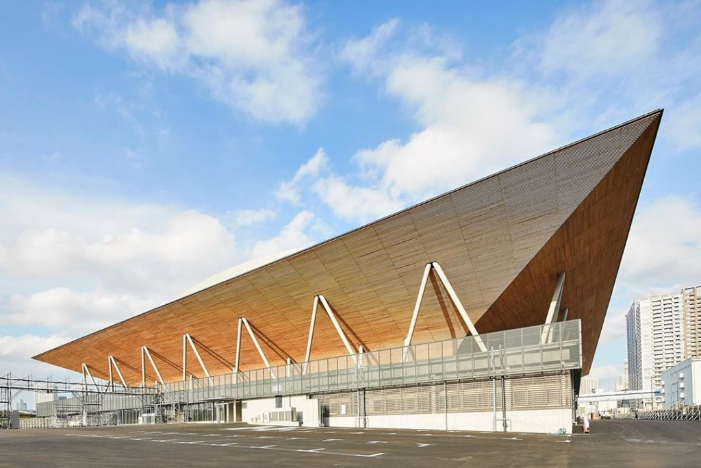 Construction on the Ariake Gymnastic Centre is complete!  The Gymnastic Centre'...