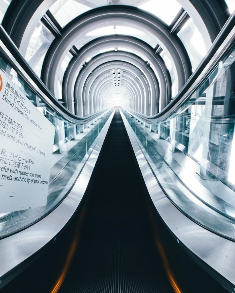 Heading towards the light at the end of the tunnel...or at the end of the escala...