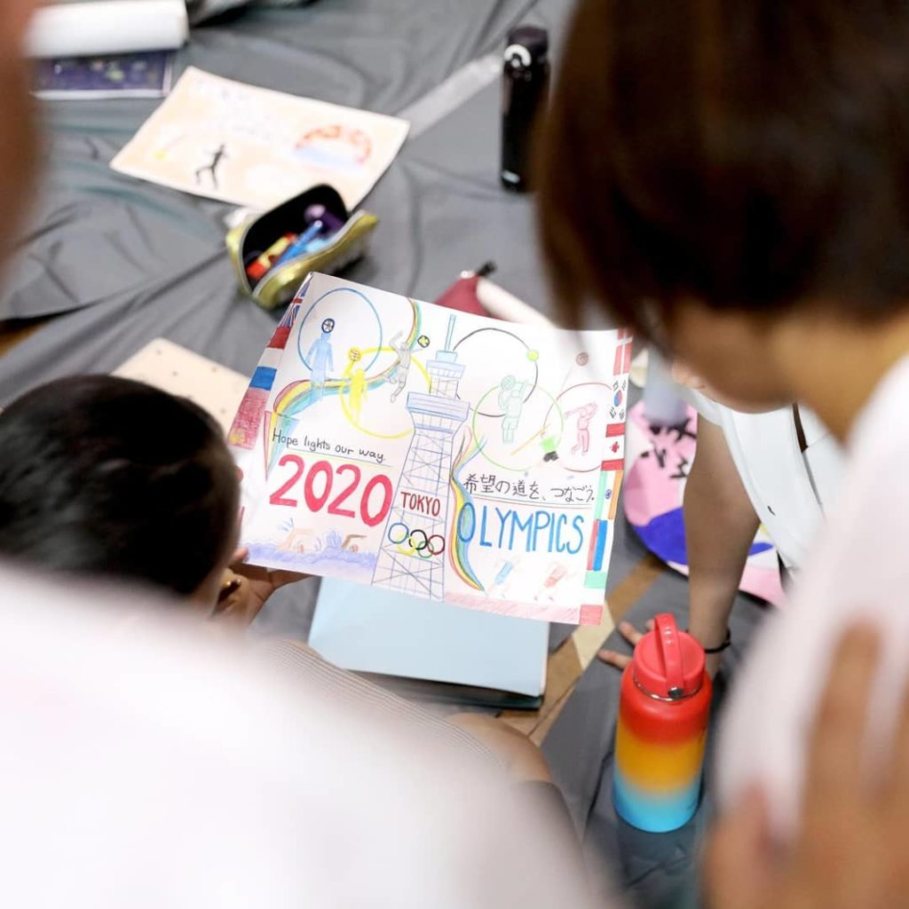 #Tokyo2020 gets creative!  Students from K International School channelled thei...