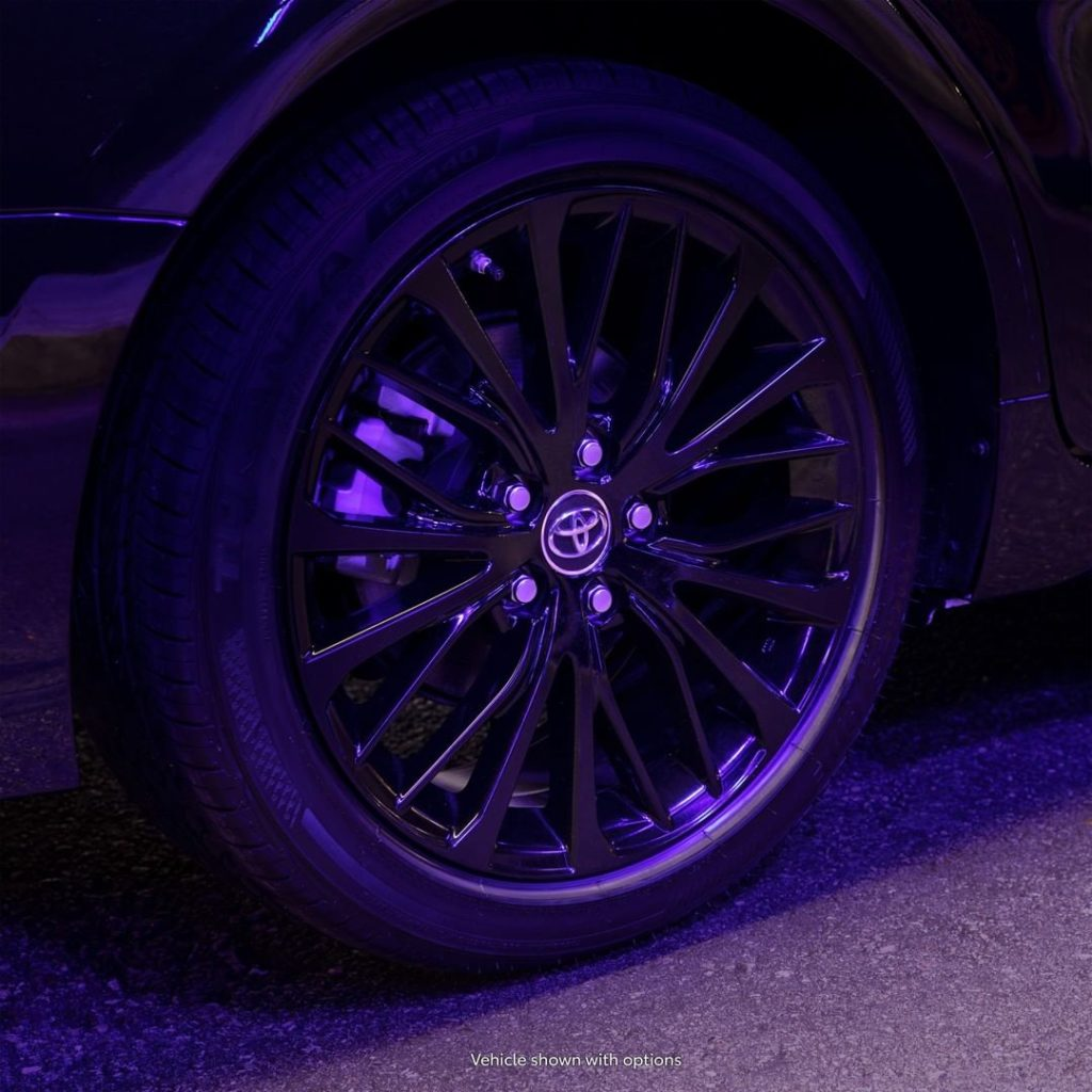 "Roll up in style with 18"" black alloy wheels in the 2020 #Camry #Nightshade #Let..."