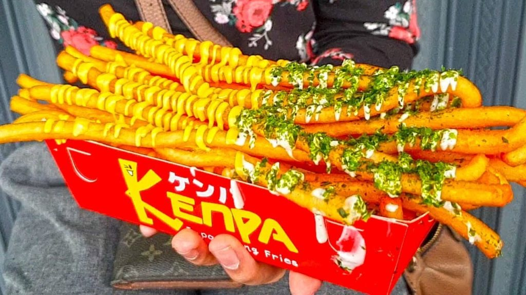Delicious & Yummy !!! Japanese Long Fries Potato - Japan Street Food