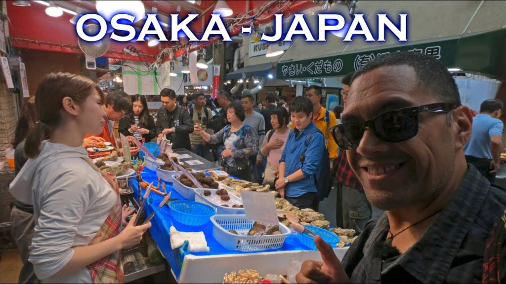 EATING SEAFOOD & STREET FOOD AT KUROMON MARKET IN OSAKA (Is it really that expensive?)