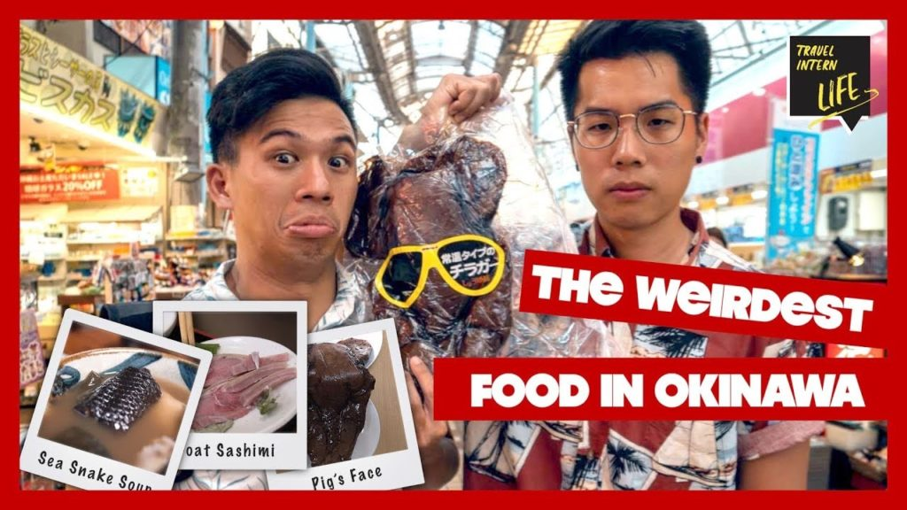 Eating a PIG'S HEAD and Drinking SEA SNAKE SOUP — Okinawa, Japan | The Travel Intern