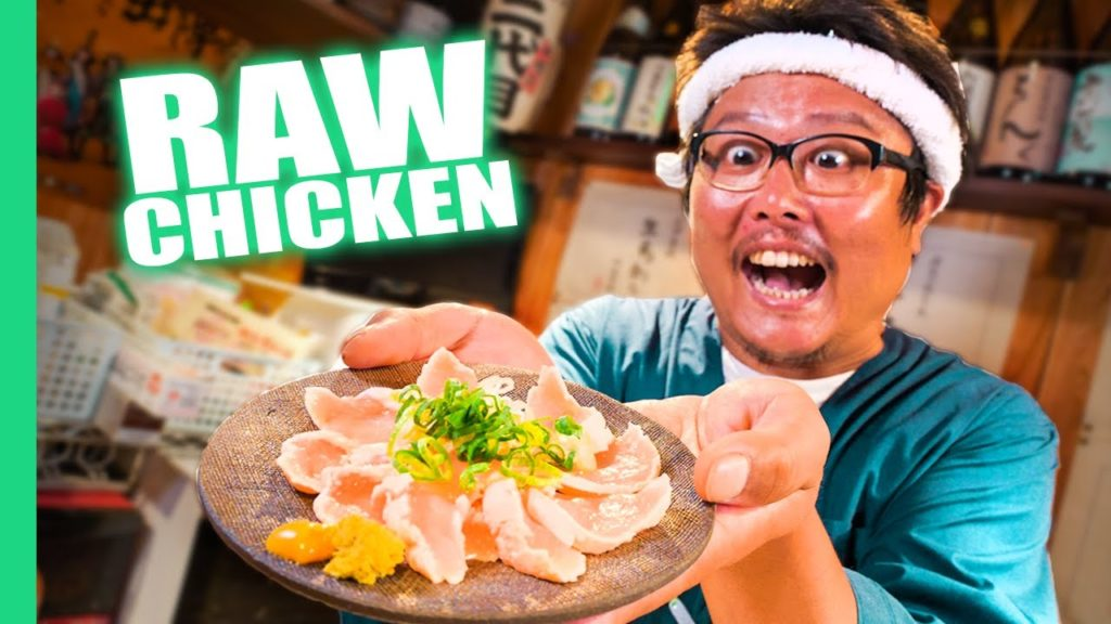 Eating RAW Chicken Sashimi!!! Japan's DANGEROUS Raw Food Culture!!