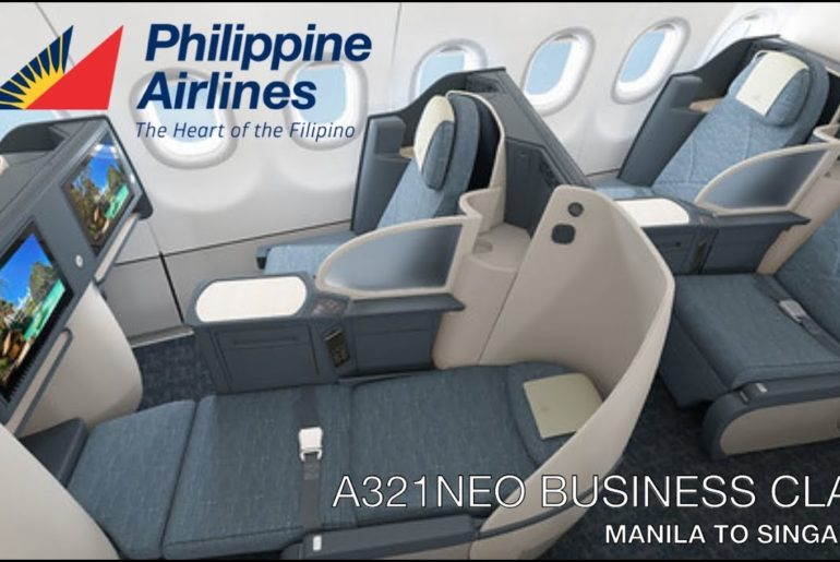 Philippine Airlines Business Class    PR511     Manila to Singapore   A321NEO