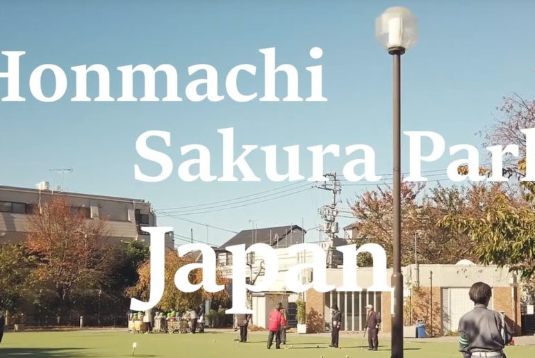 Walking on Honmachi Sakura Park in Shibuya, Tokyo Japan. Solo travel in Japan | DJI Osmo Pocket 4k