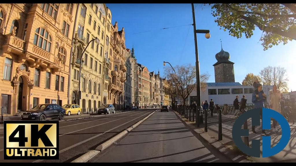 PRAGUE 4K quality | Driving in car POV | sunny afternoon | Autumn/Fall