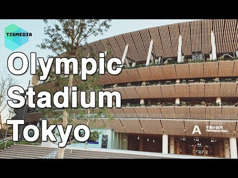 🇯🇵🗼Walking around New Olympic Stadium Tokyo on November 2019 (construction going on yet)【4K】Japan