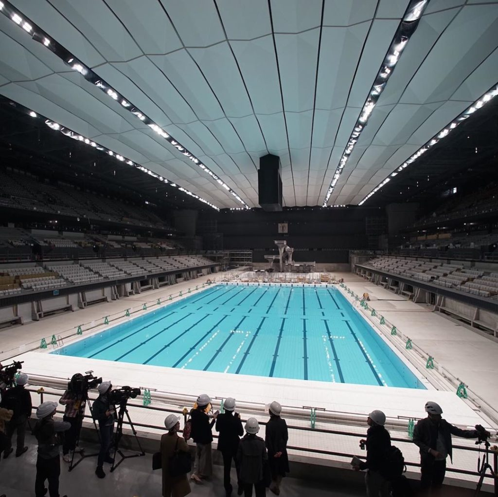 The Tokyo Aquatics Center and the Ariake Arena, two out of the six permanent ven...