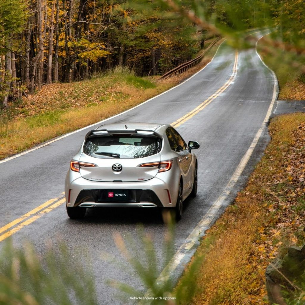 Never fall behind! #Corolla Hatchback #LetsGoPlaces...