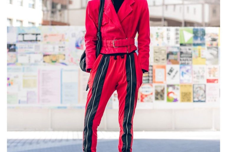 17-year-old Japanese student Yuki (@yktbi) on the street in Tokyo. He's wearing ...