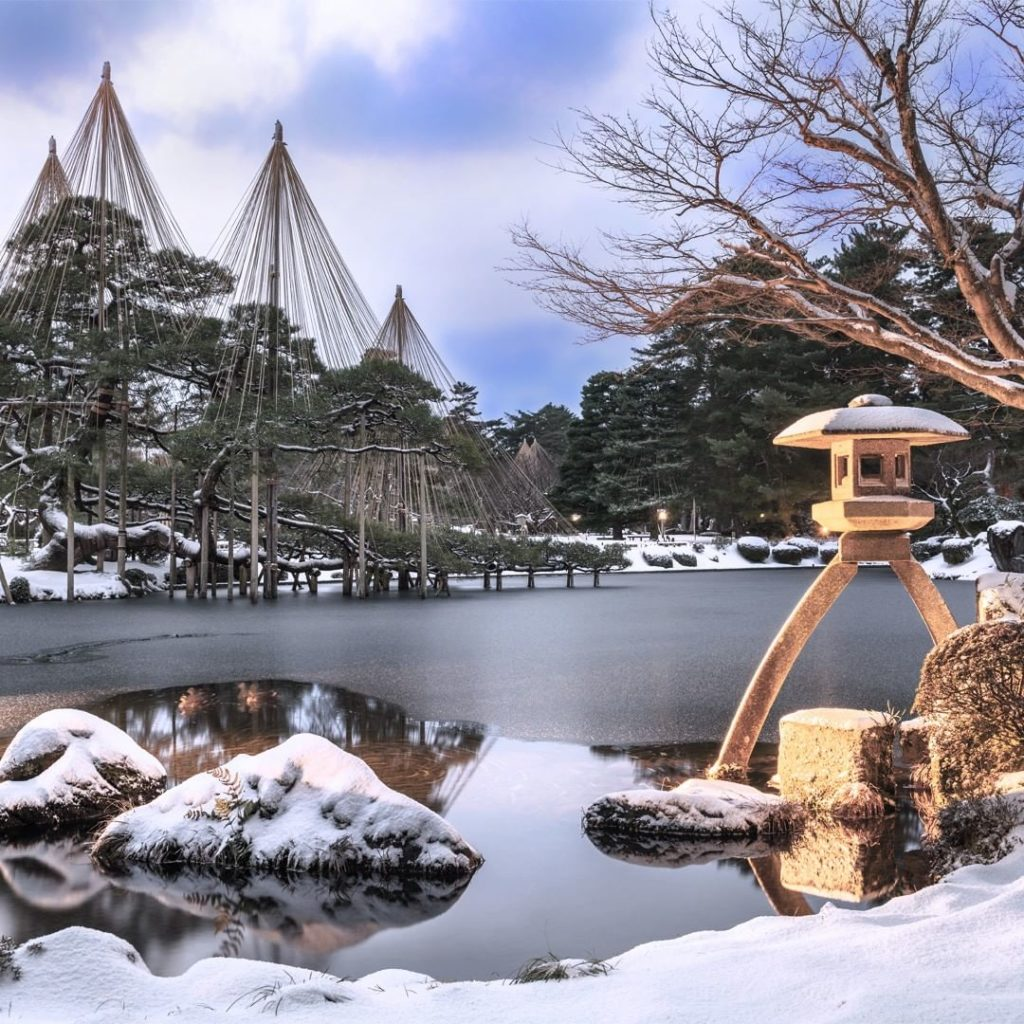 . In winter, the Kenrokuen Gardens in the Hokuriku region of Japan have a partic...