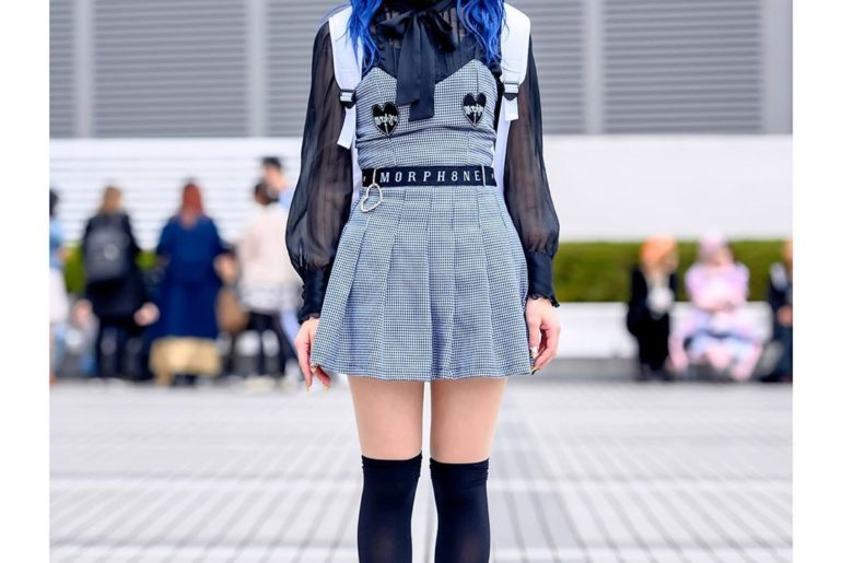 19-year-old Japanese student Kaeru (@kaeru_0921) at Bunka Fashion College in Tok...