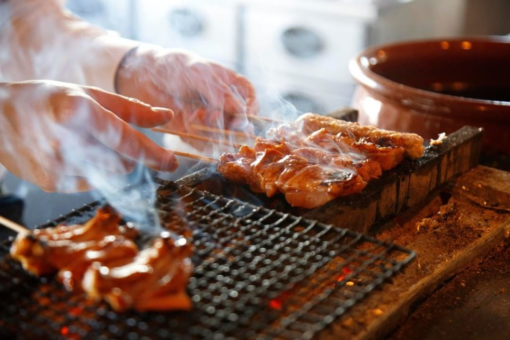 Yakitori are Japanese-style chicken skewers grilled over an open flame, and can ...