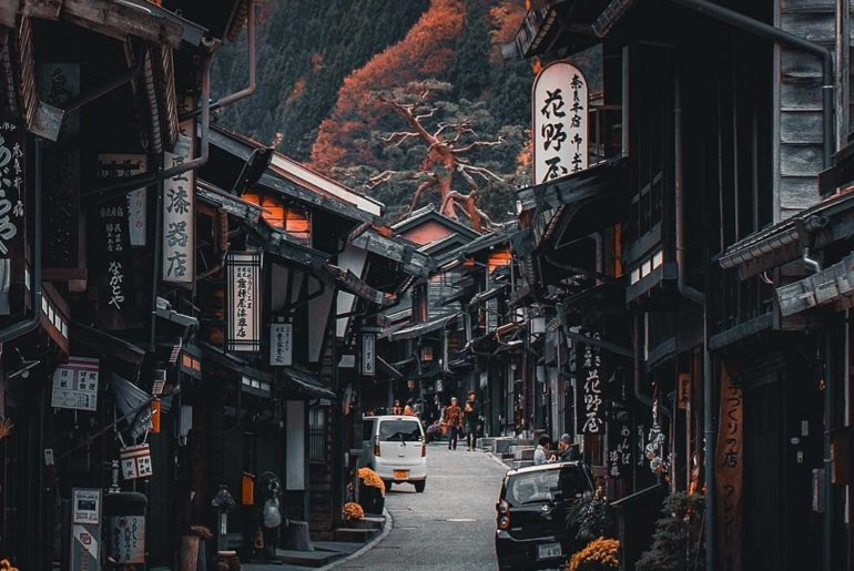 The Nakasendo connecting Tokyo and Kyoto was once a popular mountain route walke...