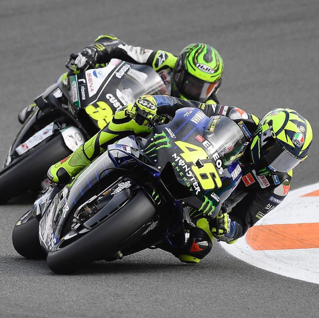 @valeyellow46 suffered low rear grip issues, but still rode from P12 to P8 in th...