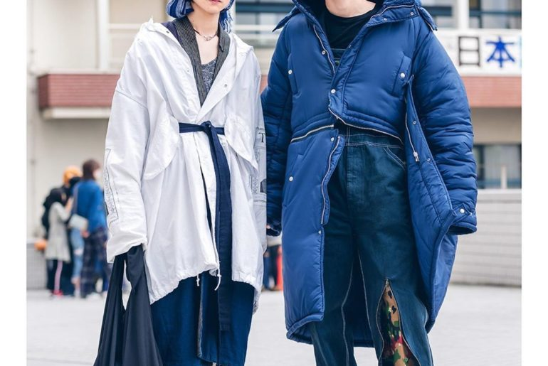 Ryoya (@ryo8.4duta) and Nagi (@12.na.167) at Bunka Fashion College in Tokyo wear...