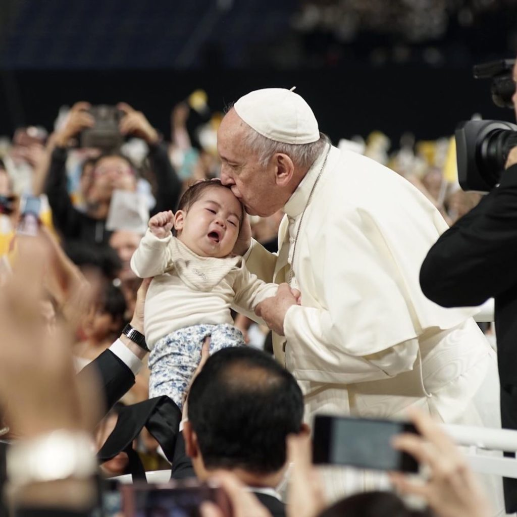 Pope Francis held a Mass at Tokyo Dome, a 55,000-seat stadium, on Monday, a day ...