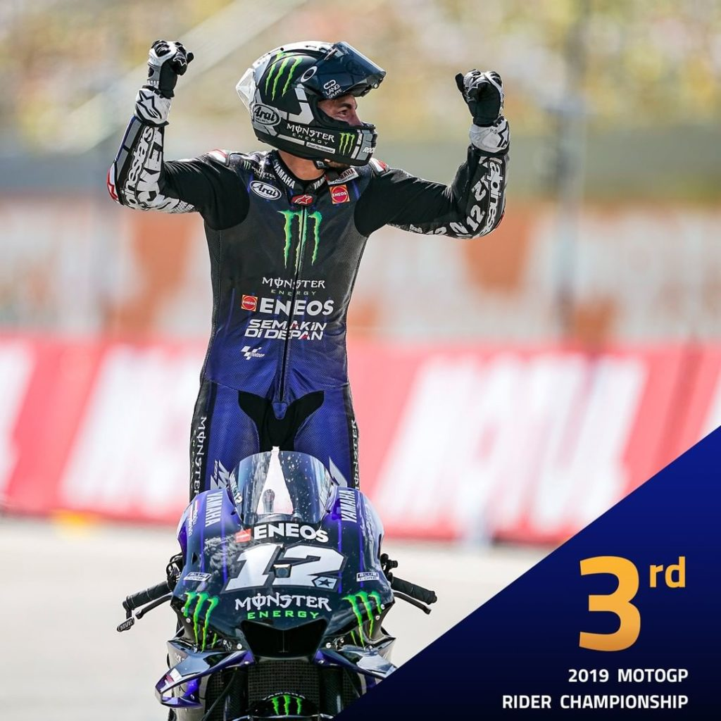 for @maverick12official in the 2019 @motogp World Championship classification. H...
