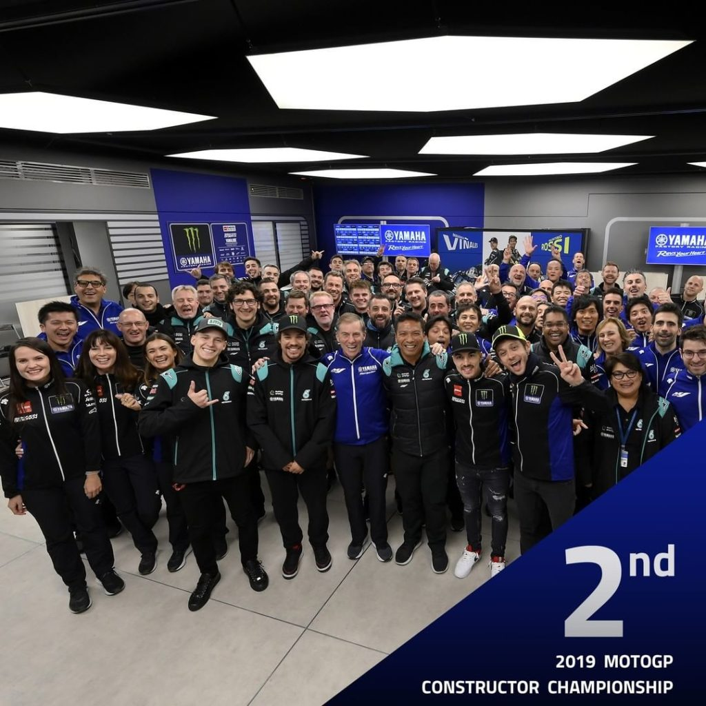 Second in the 2019 @motogp Constructor Championship. A real Yamaha-Family achiev...