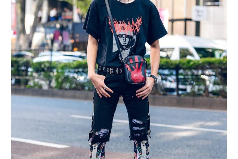 19-year-old Japanese student Yuito (@yuito4312wt) on the street in Harajuku. He'...