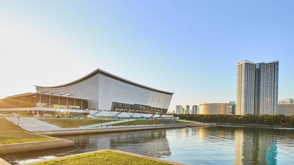 Say hello to the stunning Ariake Arena!  This will be the home of Olympic Volle...