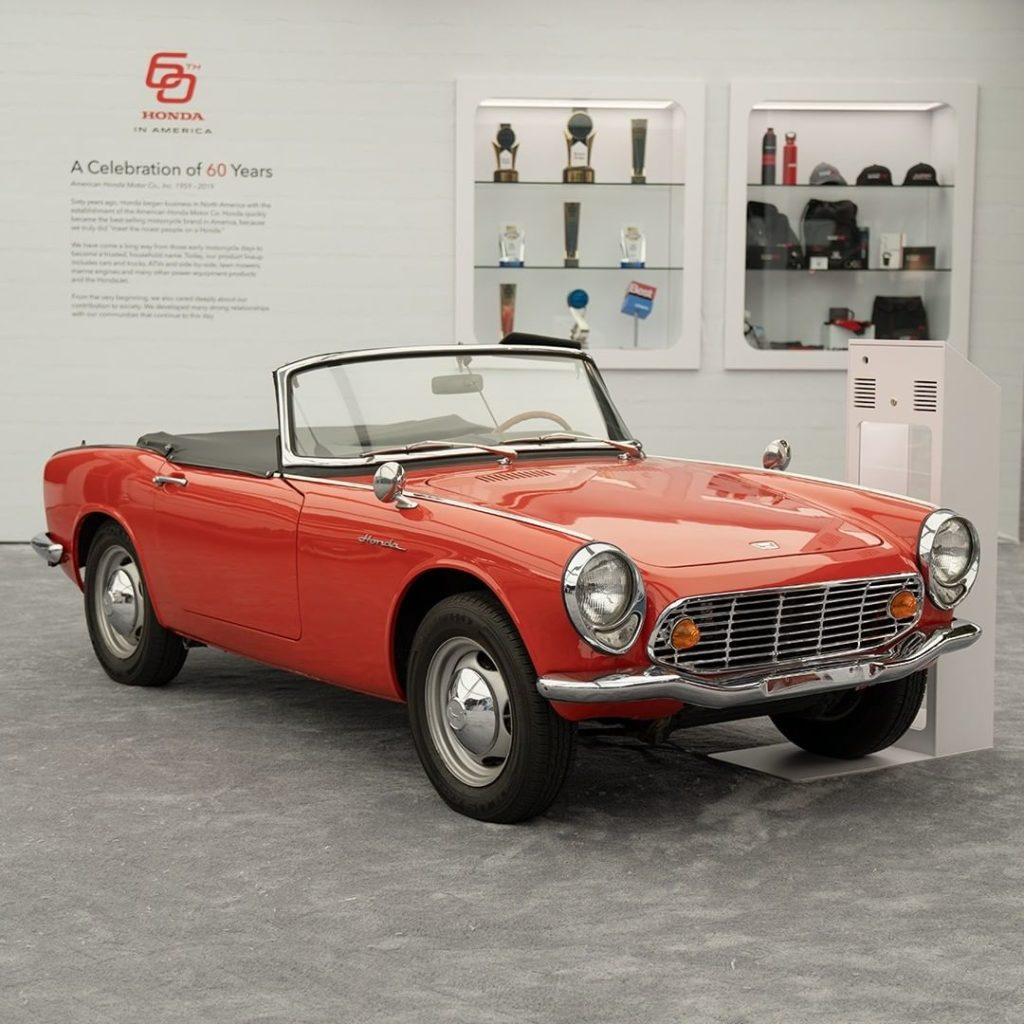 #TBT to the 1965 Honda S600. Come see it and other Honda vehicles at the #LAauto...