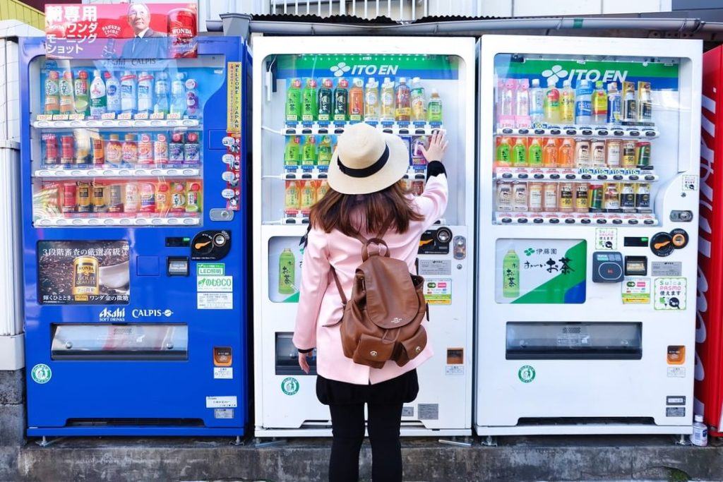 Vending machines are ubiquitous throughout Japan, offering people a convenient w...