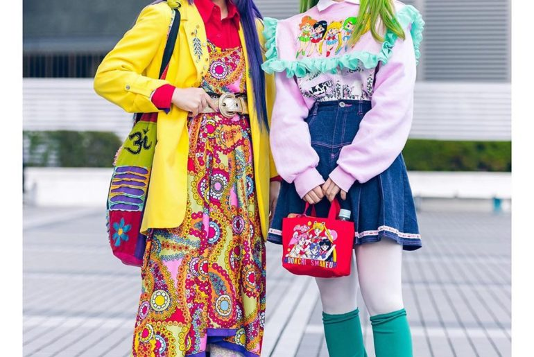 Japanese fashion students Bien (@beepastell) and Suzune (@oyasumi0220) on the st...