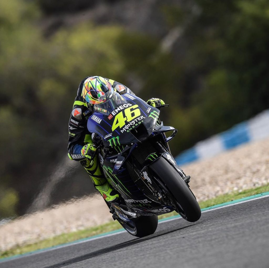 @valeyellow46 worked on the overall performance of his Yamaha and concluded Day ...