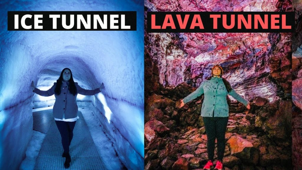 The Best Caves in Iceland! LAVA TUNNEL and ICE TUNNEL