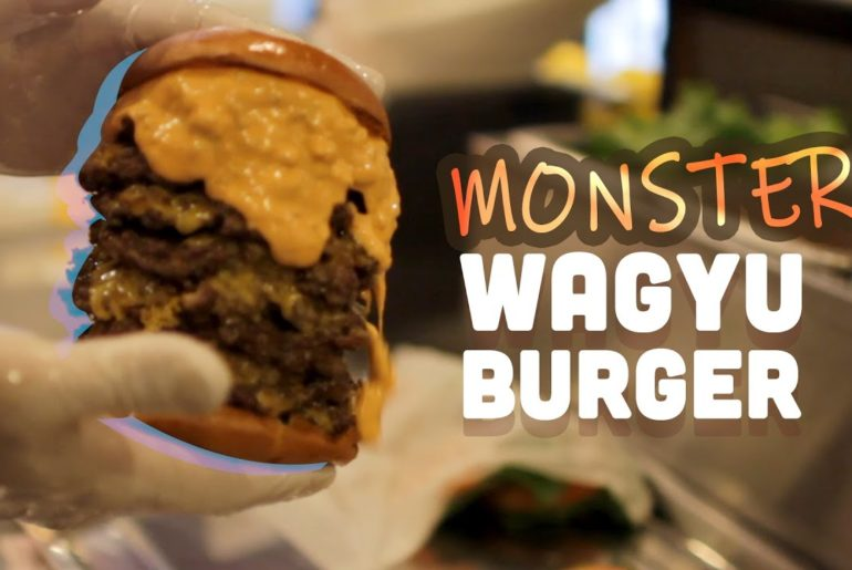 The MONSTER WAGYU burger loved from Akihabara to Yokosuka Base