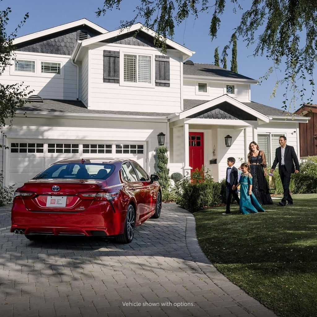 Show off what you love most. #Camry #Hybrid #LetsGoPlaces...