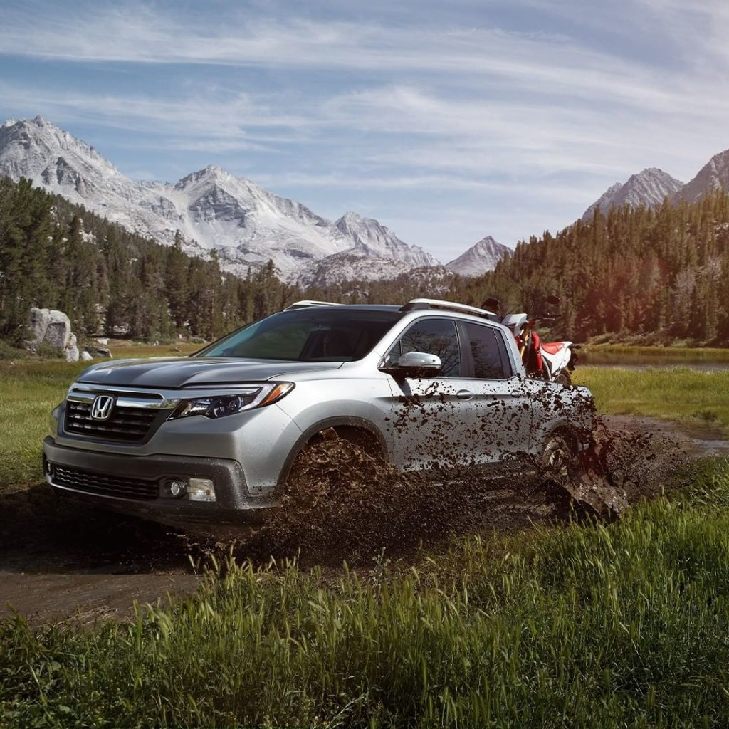 """What's another way to say, """"Rugged Capability?"""" #HondaRidgeline..."""