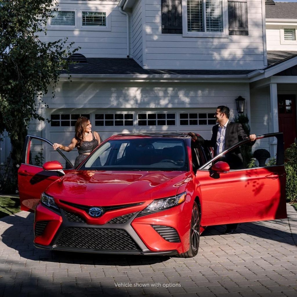 Outstyle the crowd at every holiday party this year. #Camry #Hybrid #LetsGoPlace...